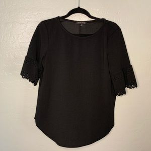 Black blouse with sleeve detail